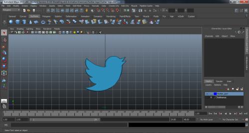 Screenshot of a Twitter logo