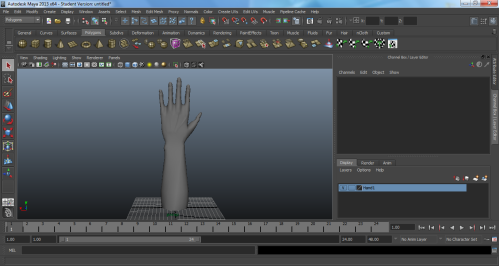 Screenshot of the back hand with no texture
